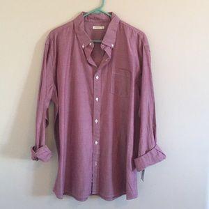 NWT Men's Button Down shirt, Red, size XL